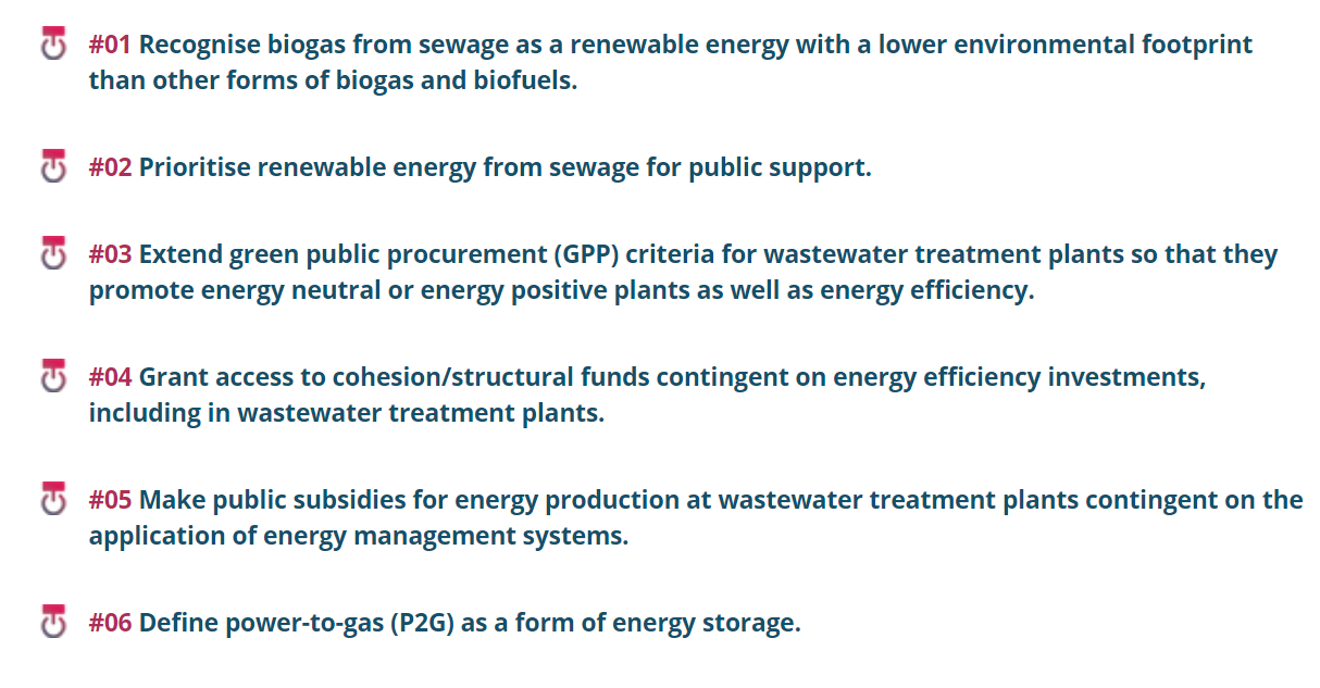 Policy Brief: The potential of the wastewater sector in the energy